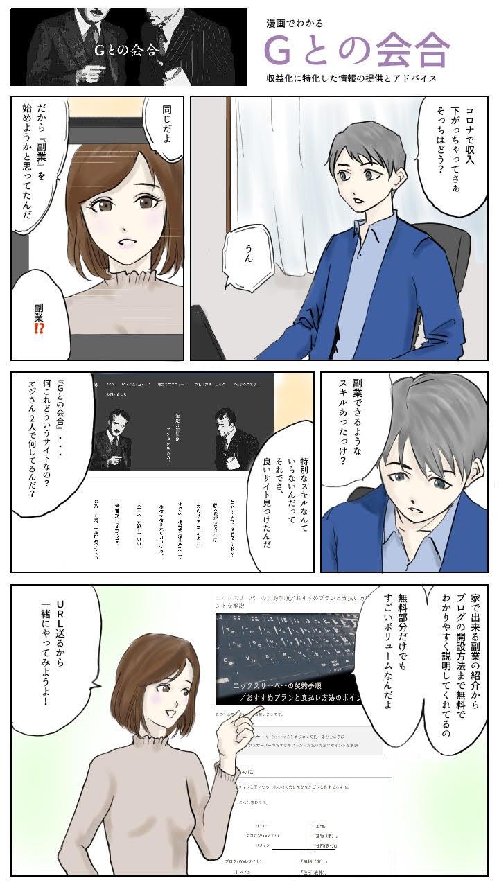 Gとの会合漫画
